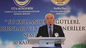 """Türkiye Sulama Kooperatifleri Merkez Birliğinden """"Su"""" açıklaması"""